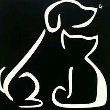 Cat Dog Lover Vinyl Graphic Decal Die CUT Sticker Car Truck Window **USA** NiCe