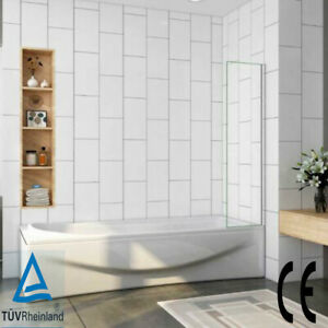 250/300/350/700/800mm Luxury Square Fixed Panel Over Bath Shower Glass Screen