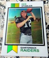 KEN STABLER 2012 Topps Chrome Reprint GOLD Refractor SP 1973 Rookie Card RC /99