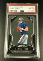 DANIEL JONES 2019 PANINI PRIZM #302 ROOKIE RC NM-MINT PSA 8 NEW YORK GIANITS NFL