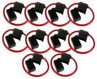 ATCWP-10 ATC/ATO Fuse Holder with 10 Gauge Red Waterproof Power Cable (10/pack)