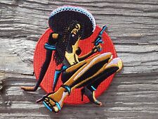 D018 ECUSSON PATCH THERMOCOLLANT aufnaher toppa PIN UP métal biker rock