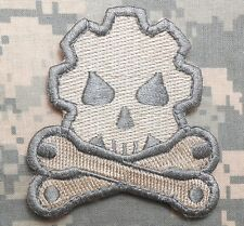 DEATH MECHANIC USA ARMY MORALE ACU LIGHT VELCRO® BRAND FASTENER PATCH