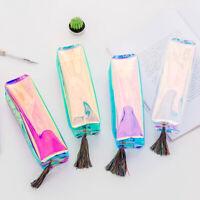 KQ_ BL_ GT- ALS_ Shiny Pencil Case Pen Stationery Zipper Bag Storage Container O