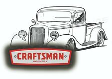 Craftsman Tool Sticker Decal Black Rod Truck Vintage Mechanic Tool Box Usa C005