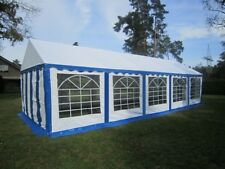 Partyzelt 4x10 m PVC blau Festzelt Gartenzelt Pavillon Bierzelt wasserdicht