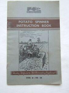 @Ferguson System Potato Spinner Instruction Book  Type D-HE-20 @