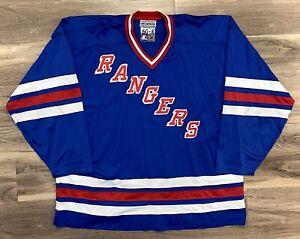 New York Rangers Authentic Starter NHL Hockey Jersey 90s Vintage Retro 4XL 60 NY