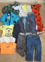 15 pc lot of nice clean boys' 24 mos. Fall Winter Clothes & Sets Carters EUC