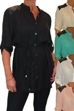 Ladies Blouse Tunic Shirt Fine Soft Feel 8-16