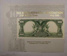 BEP souvenir card B 169 TNA 1993 Back 1902 $100 Plain Back national
