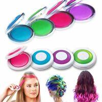6 Farben DIY Haar-Kreide-Pulver Temporäre Haarfarbe Farben Salon Kit Haarfarbe V