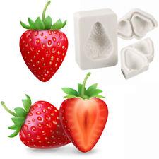 3x Strawberry Fruit Silicone Mould Cake Fondant Chocolate Icing Mold Decors