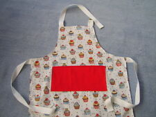 Personalised Childrens Apron Sweet Cupcake Design Fabric Ideal Present