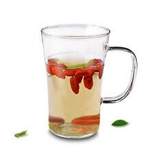 Lots Heat Resistant Glass Flared Tea Cups Drink Mugs for Flower Green Tea 370ml