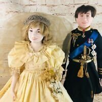 Vintage Lady Margaret Anne Doll Princess Diana Prince Charles Pair Made USA 22""