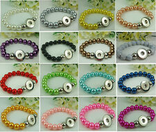 20PCS mix handmade charm bead Alloy Snap button bracelets fit noosa chunk #2