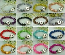 20PCS mix handmade charm bead Alloy Snap button bracelets fit noosa chunk #2
