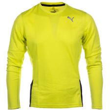 Fitwise Uomo Manica Corta T-shirt Estate Top Training Palestra Casual Wear GIALLO