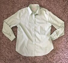 ORVIS Mens Button Up Long Sleeve Pastel Green Shirt Size 16