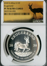 South Africa Coin 2020 Silver Krugerrand Ultra Cameo NGC PF70 NO RESERVE!
