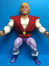 VINTAGE HE-man MOTU MATTEL accessorio-Il Principe Adam's REPRO GILET ROSSO E Cintura.