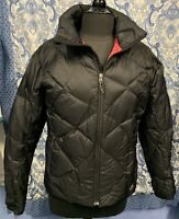 NIKE ACG Women's M Medium Black Puffer 550 Goose Down Full Zip Coat Jacket EUC