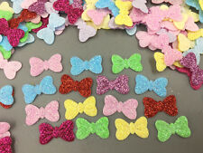 200X Mixed Colors Sequins Bow shape Felt Appliques Cardmaking Embelishments 20mm