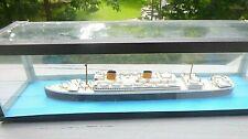 Bassett Lowke ship model S. S. Alcantara Royal Mail had Wwii service in case