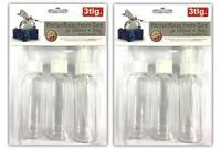 6-teiliges Reiseflaschen-Set 100 ml | Plastikflaschen Shampoo Flasche Handgepäck