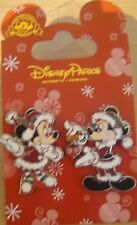 Disney Mickey & Minnie Christmas Decorating 2 Pin Set - New on Card - #119310
