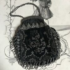 Handbag Has Velvet and Pearl Embroidered Xixè - Embroidery Bag Purse Pearl