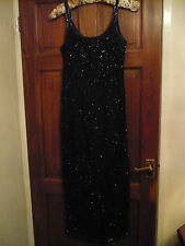 WALLIS HEAVILY BEADED LONG EVENING DRESS / GOWN size 10 BNEW
