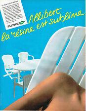 Publicité Advertising 078  1985   meubles salon jardin sièges Allibert résine