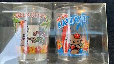 Vintage Hello Kitty Hawaii 2pk Shot Glasses 1976 - 2004 new