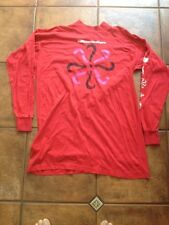 THE MILLTOWN BROTHERS Slinky Concert T-Shirt RED Long-Sleeved SIZE Medium/Large