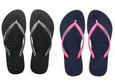 Havaianas Slim Logo Top Women Flip Flops Sandals Vary Colors All Size