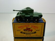 MATCHBOX LESNEY 67 SALADIN ARMOURED CAR - ARMY GREEN - GOOD CONDITION IN BOX