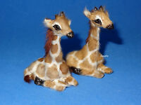 Dollhouse Miniature BABY GIRAFFE TWINS Handcrafted for Nursery or Toy Shop 1:12
