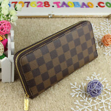 Hot selling women Brown leather wallets fashion zipper purse ladies handbag