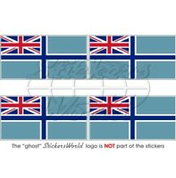 "BRITISH Civil Air Ensign UK Flag Vinyl Bumper-Helmet Sticker -Decal 50mm(2"") x4"