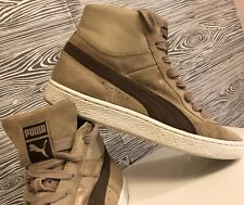 Vintage PUMA Classic BROWN SUEDE High Top SNEAKERS Skateboard Men's Shoes 7.5