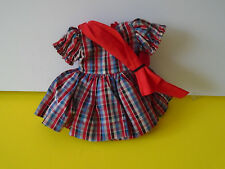 "Vintage 1950s ST 12 12"" Shirley Temple Doll Orig. Untagged Plaid Scottish Dress"