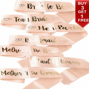 Hen Party Sashes Team Bride To Be Sash Wedding Girls Night Out Party Rose Gold