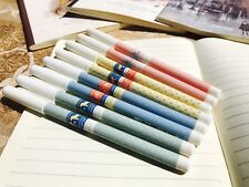 8PCS Kawaii Blue Ball Pen 0.5mm Korean Stationery Gift Cute Dala Hastar Series