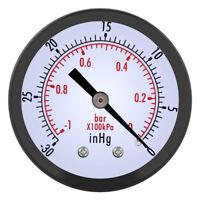 Vacuometro Vuotometro -1,0Bar D. 50mm 1/4BSPT per Aria Acqua Olio Pompa Vuoto