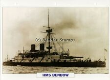 1885 HMS BENBOW Battleship Capital Ship / GB Warship Photograph Maxi Card