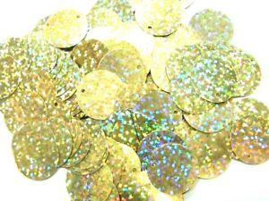 100 Gramm Pailletten-Geld Ø 20mm Farbe: helles Gold