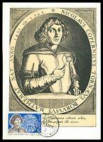 RUSSIA MK 1974 KOPERNIKUS COPERNICUS COPERNIC MAXIMUMKARTE MAXIMUM CARD MC al53