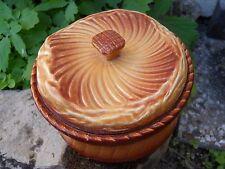 Ancienne terrine décor pâté en croûte boule de pain trompe oeil